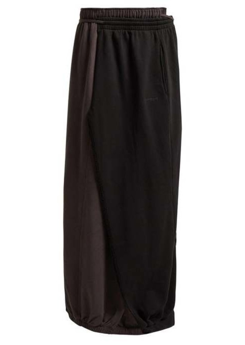 Vetements Wrap-around cotton maxi skirt
