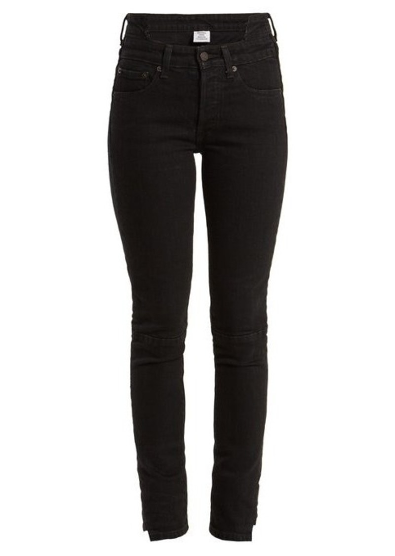 Vetements X Levi's reworked high-rise skinny-leg jeans