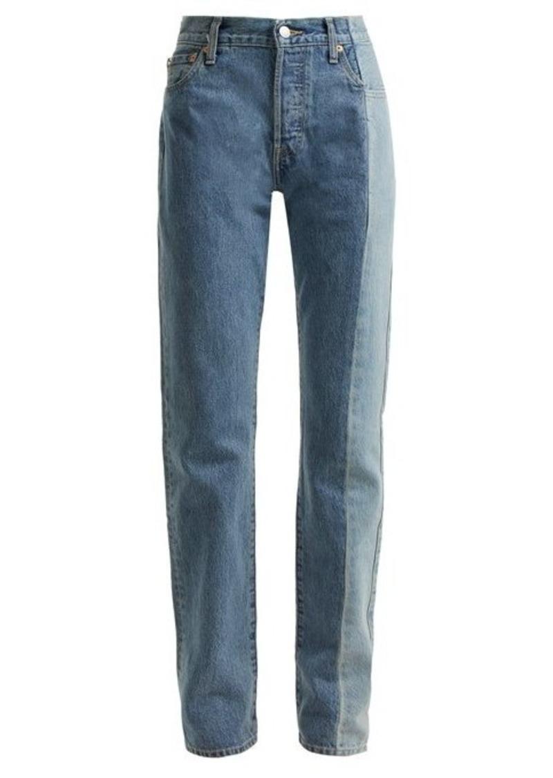 Vetements X Levi's reworked straight-leg jeans
