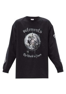 Vetements X Motörhead cotton long-sleeved T-shirt