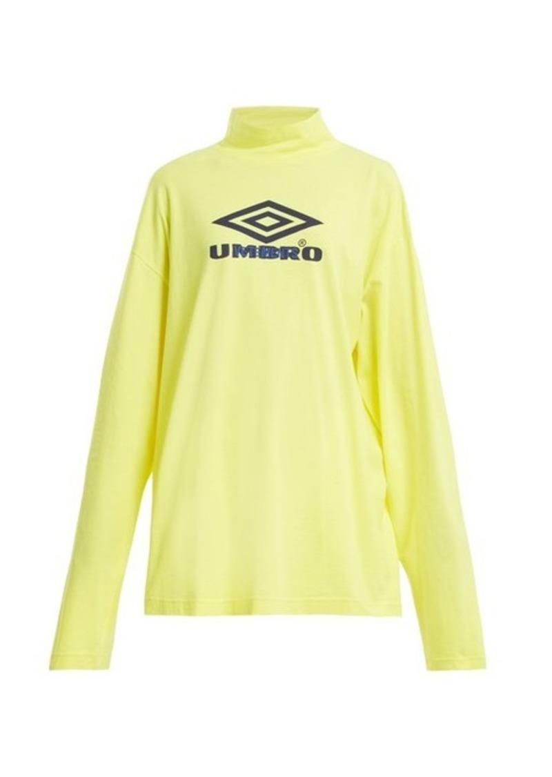 Vetements X Umbro long-sleeved cotton-jersey top