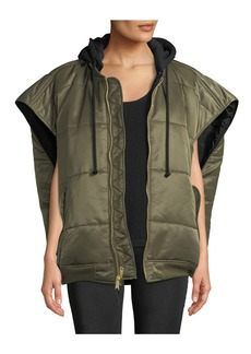 Vetements Zip-Front Hooded Oversized Puffer Bomber Vest