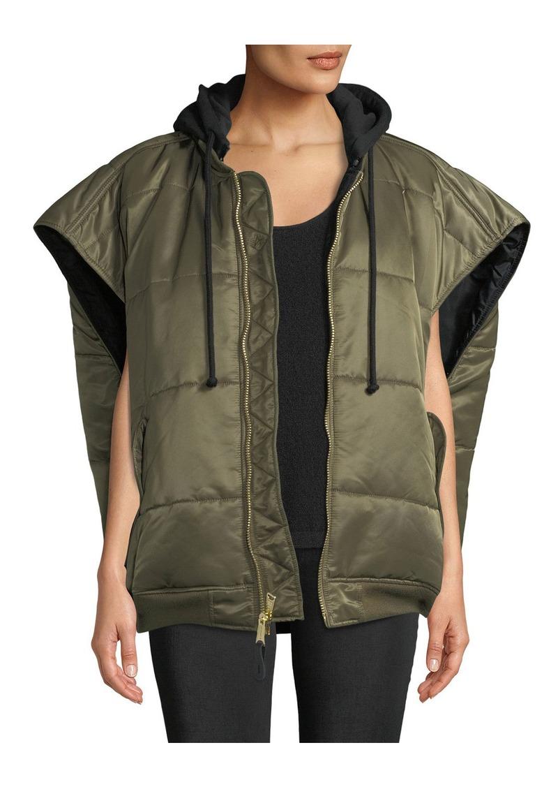 Vetements Zip-Front Hooded Oversized Puffer Bomber Vest