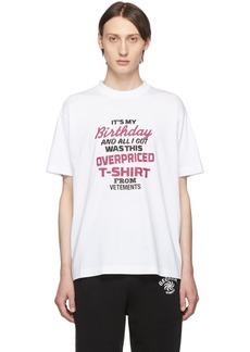 Vetements White 'Birthday' T-Shirt