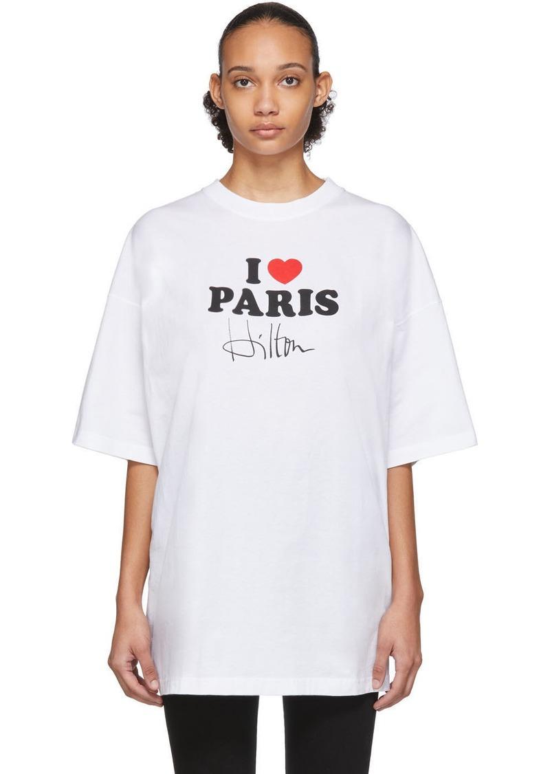 Vetements White 'I Love Paris' T-Shirt