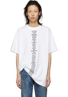 Vetements White Translated T-Shirt