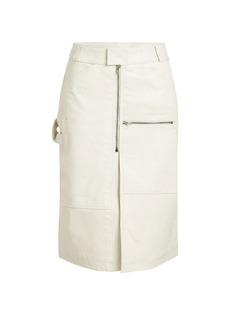 Vetements Workwear Leather Skirt