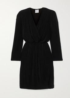Vetements Wrap-effect Plissé Stretch-crepe Mini Dress