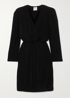 Vetements Wrap-effect Plisse Stretch-crepe Mini Dress