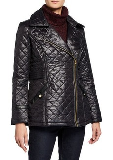 Via Spiga Asymmetrical-Zip Quilted Jacket