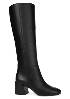 Via Spiga Desi Block Heel Leather Boots