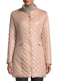 Via Spiga Diamond-Quilted Mid-Length Coat