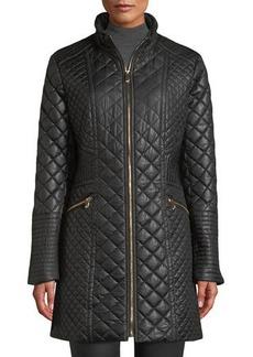 Via Spiga Diamond-Quilted Mid-Length Coat