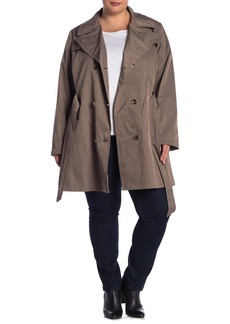 Via Spiga Double Belted Trench Coat (Plus Size)