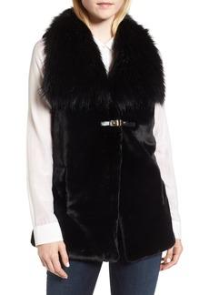 Via Spiga Faux Fur Belted Vest
