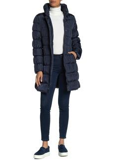Via Spiga Faux Fur Quilted Puffer Coat