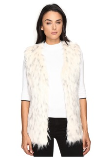 Via Spiga Faux Fur Tripped Vest