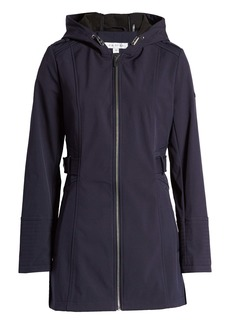 Via Spiga Half-Belt Hooded Soft-Shell Jacket
