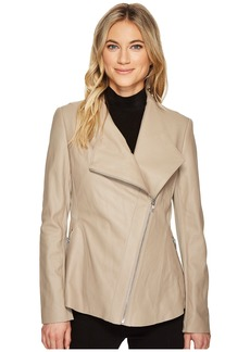 Via Spiga Leather Asymmetrical Zip
