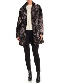 Via Spiga Leopard Faux Fur Reversible Jacket