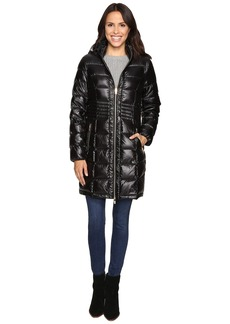 Via Spiga Metallic Hooded Packable Down Coat