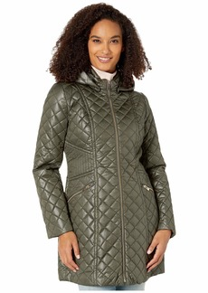 Via Spiga Mixed Stitch Hooded Quilt Jacket
