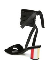 Via Spiga Nova Suede Ankle Wrap Sandal