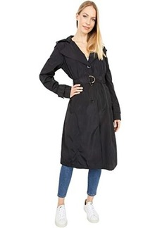 Via Spiga Packable Rain Hooded Belted Long Trench