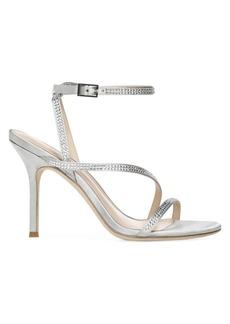 Via Spiga Pavlina Embellished Metallic Satin Sandals