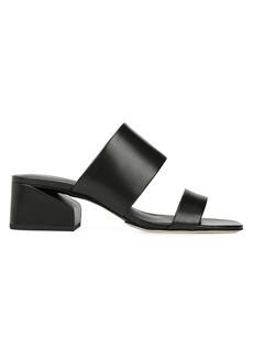 Via Spiga Phillipa Leather Block-Heel Slides
