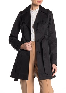 Via Spiga Pleated Hooded Trench Coat