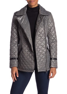 Via Spiga Quilted Faux Fur Lined Jacket