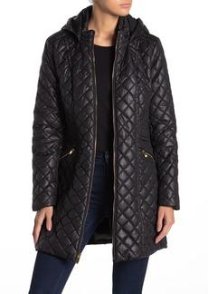 Via Spiga Quilted Hooded Zip Jacket