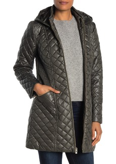 Via Spiga Quilted Hooded Zip Jacket