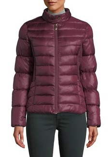 Via Spiga Quilted Stand-Collar Puffer Jacket