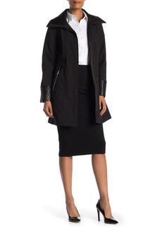 Via Spiga Quilted Wing Collar Coat