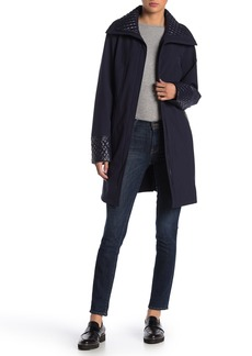 Via Spiga Quilted Wing Collar Coat