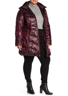 Via Spiga Removable Hood Puffer Jacket (Plus Size)