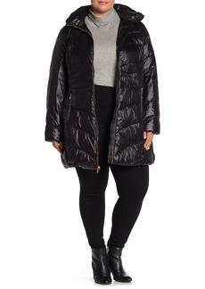 Via Spiga Removable Hood Puffer Jacket (Plus Size)