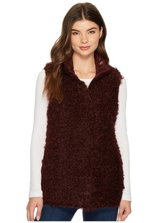 Via Spiga Reversible Curly Faux-Fur Vest