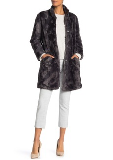 Via Spiga Reversible Faux Fur Puffer Coat