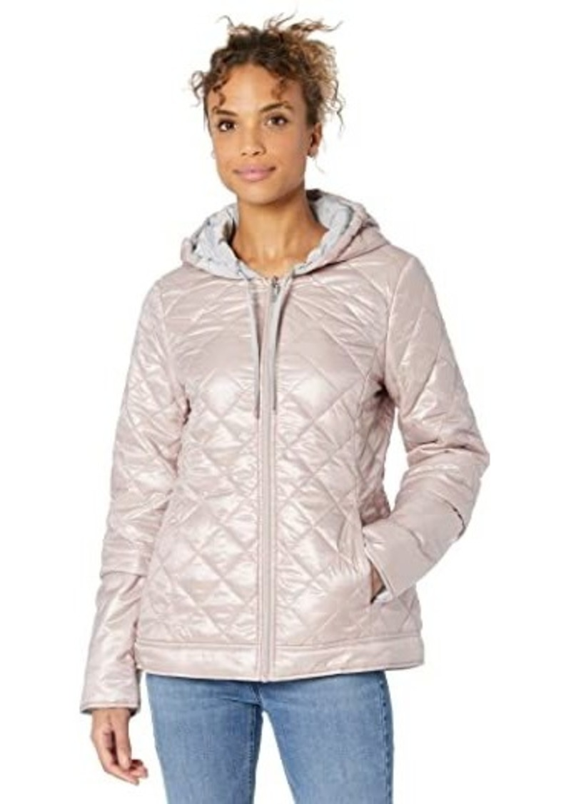 Via Spiga Reversible Packable Puffer Jacket with Diamond Stitch