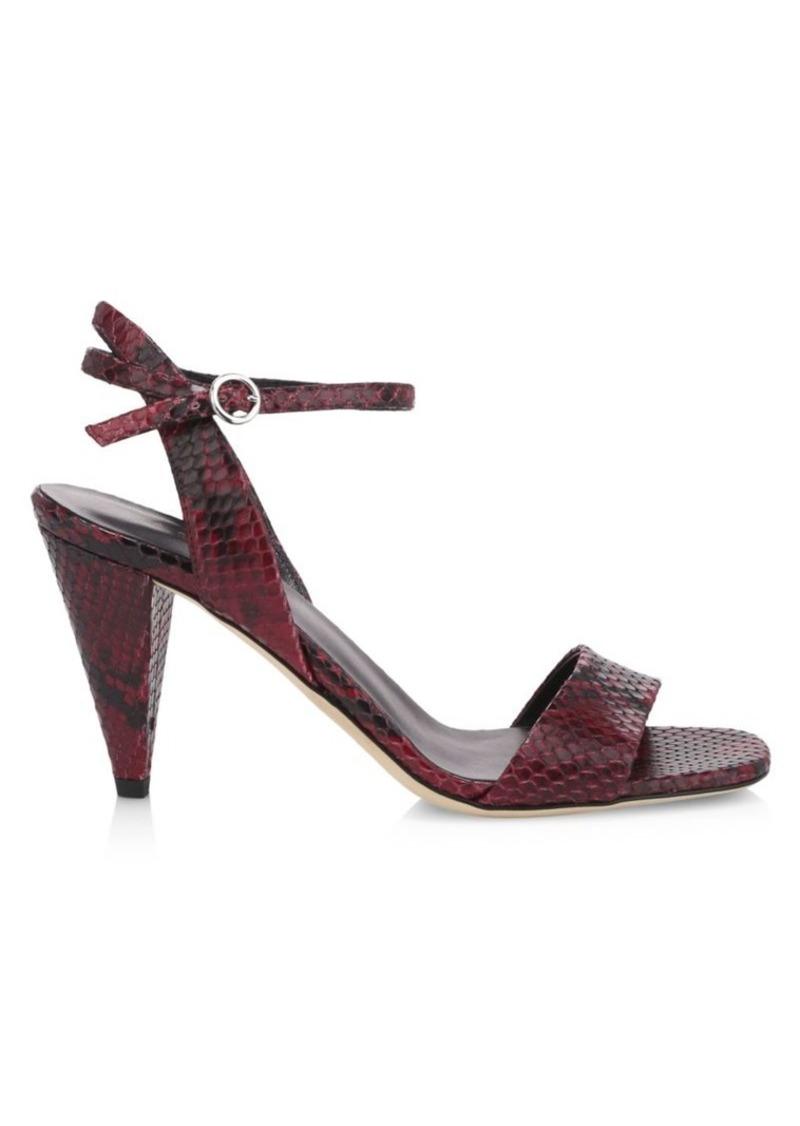 Via Spiga Ria Snake-Embossed Sandals