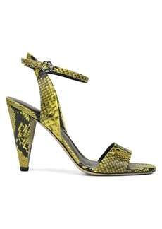 Via Spiga Ria Snake-Embossed Sandals