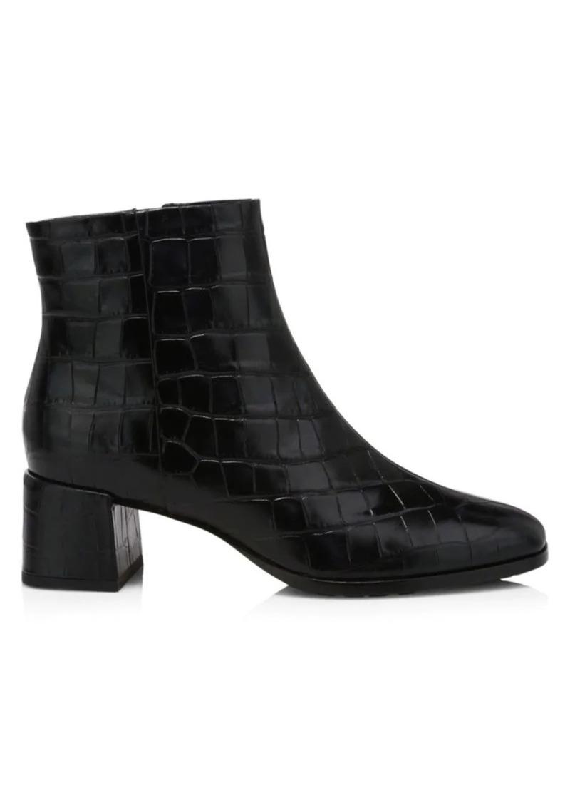 Via Spiga Sahira Croc-Embossed Leather Boots