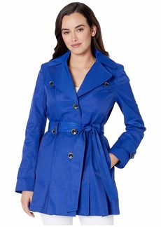 Via Spiga Single Breasted Belted Detachable Hood Trench