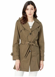 Via Spiga Single Breasted Hooded Belted Trench