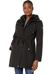 Via Spiga Softshell Belted Jacket with Face Covering