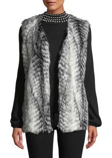 Via Spiga Two-Tone Faux-Fur Vest
