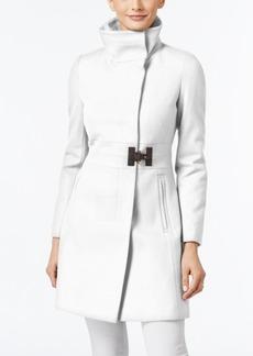 Via Spiga Asymmetrical Buckled Walker Coat